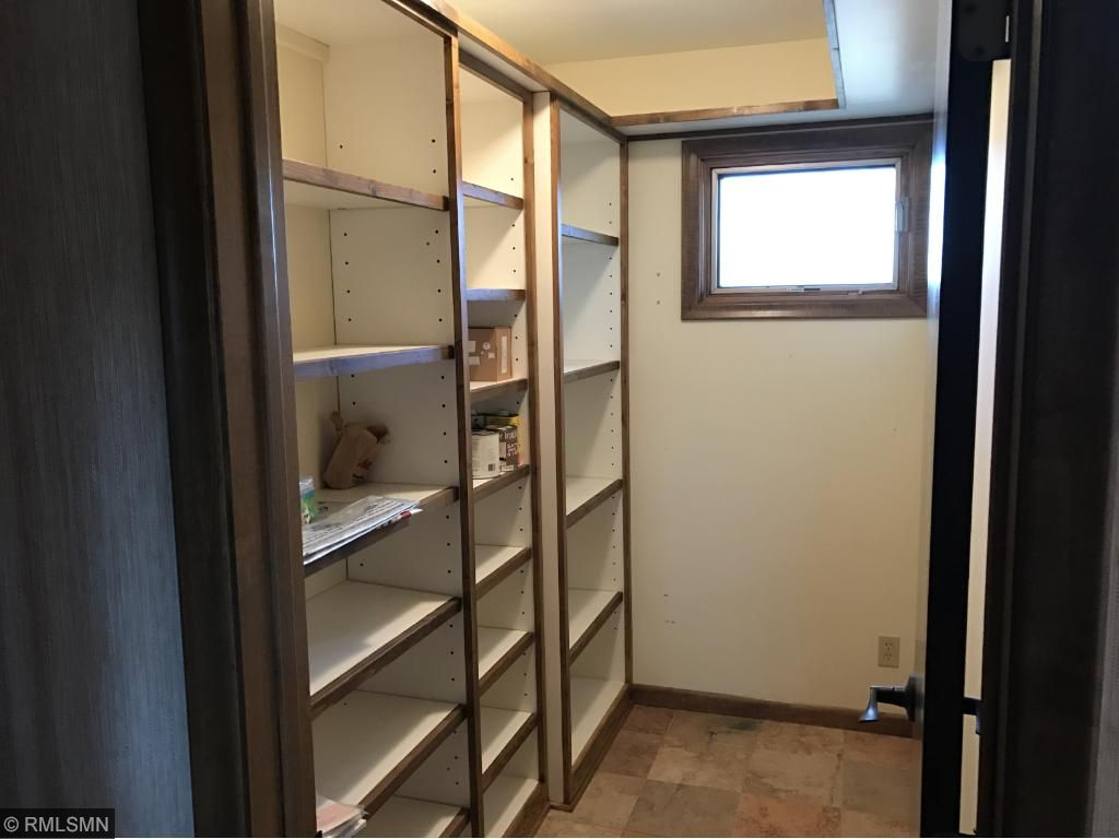 Large walk-in Pantry to store small appliances and lots of food. (Did I mention wine?)