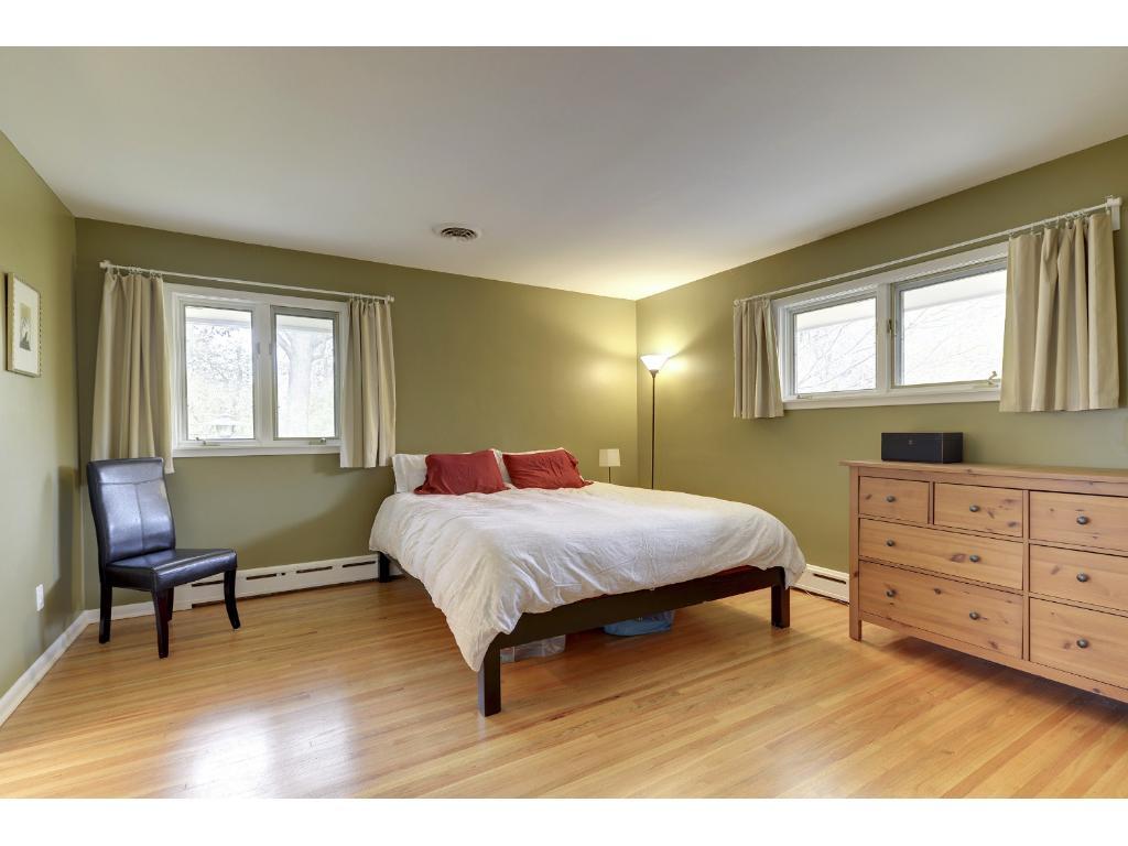 Master Bedroom has oak floors, private 3/4 Bath.