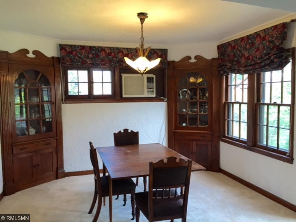 Beautiful woodwork surrounds this spacious room.
