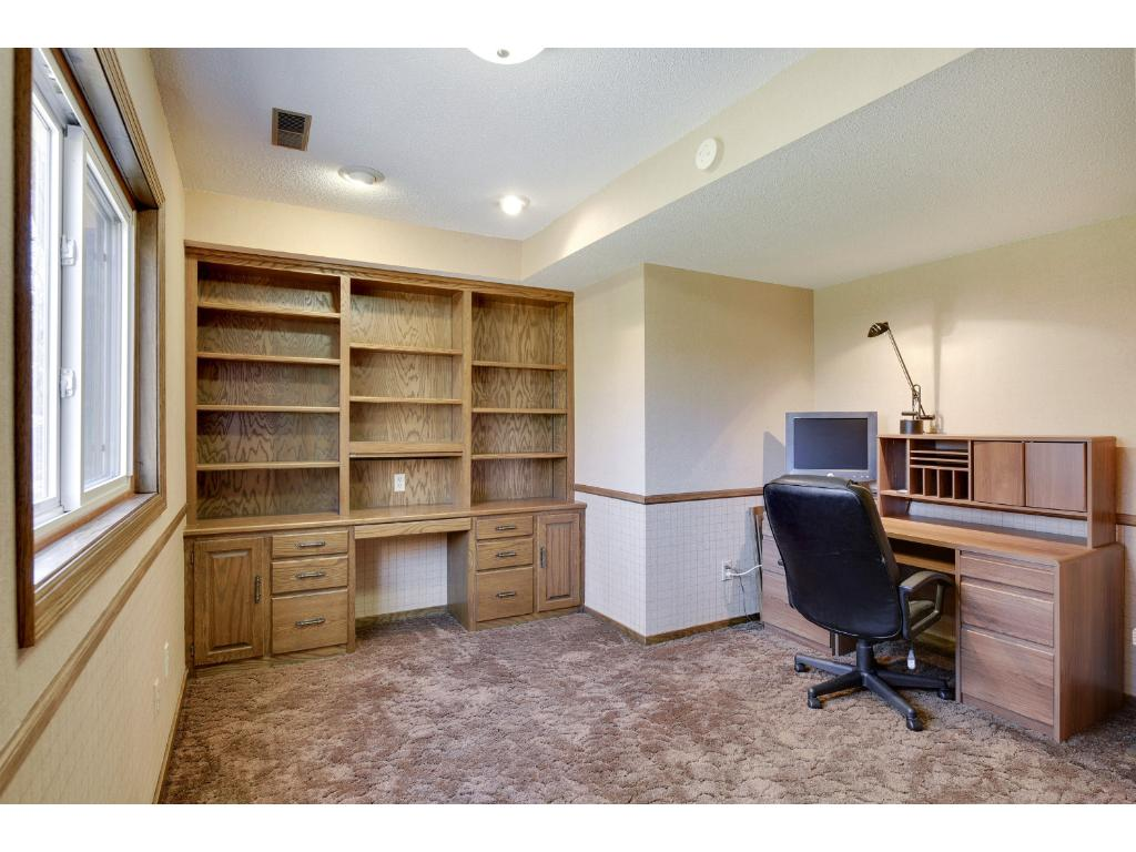 Lower Level Office That Could Be Used As a 5th Bedroom