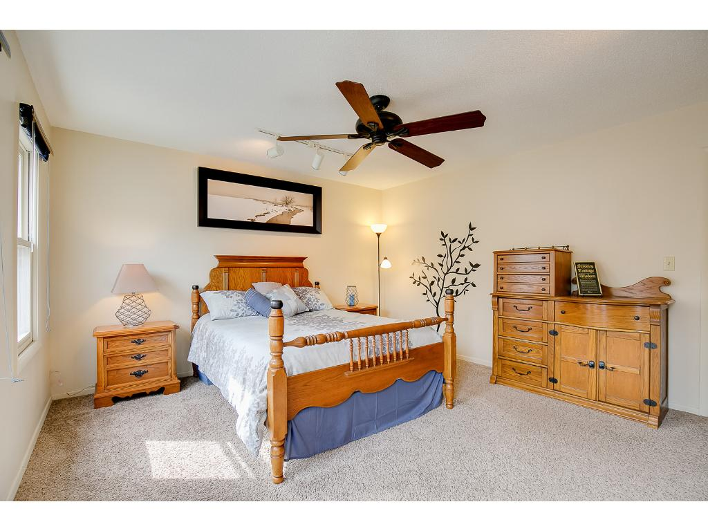 large master bedroom, complete with master suite.