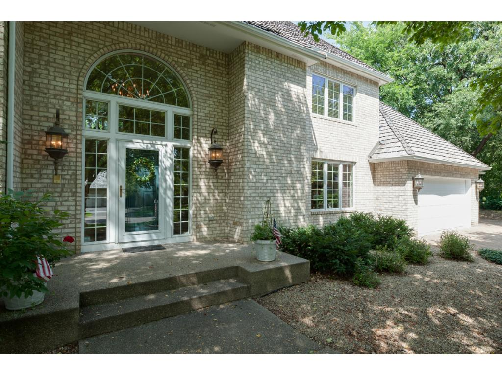 Stately and elegant front entry