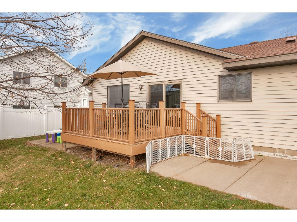 Right beside the deck is a 12x30 concrete patio - great for grilling on!