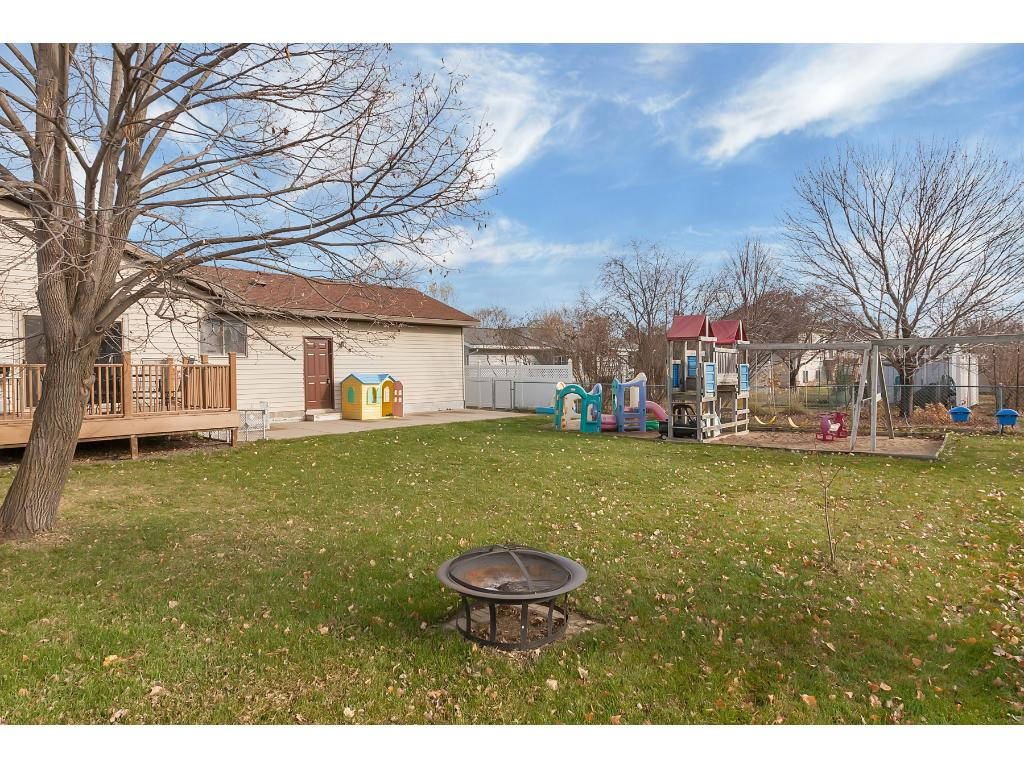 Large backyard with plenty of room for the kids to play in.
