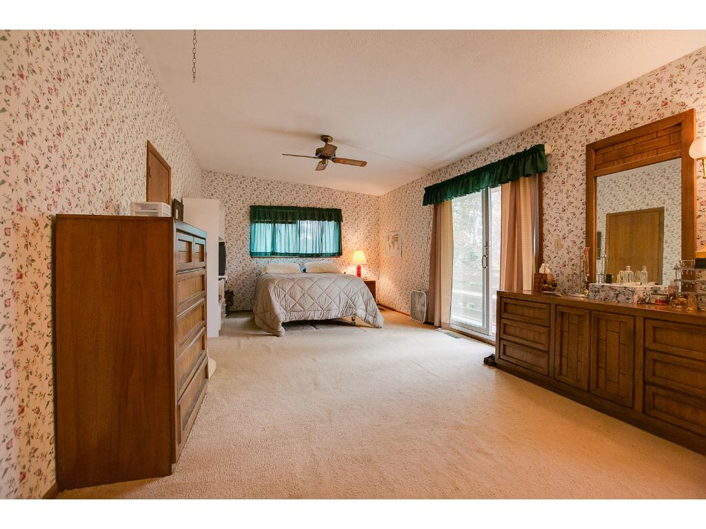 Huge Master Bedroom with balcony!