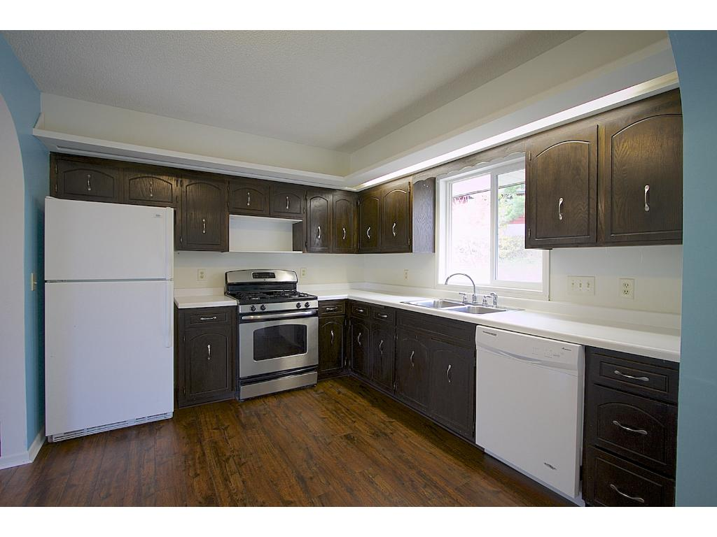 Open kitchen with ample cabinet space