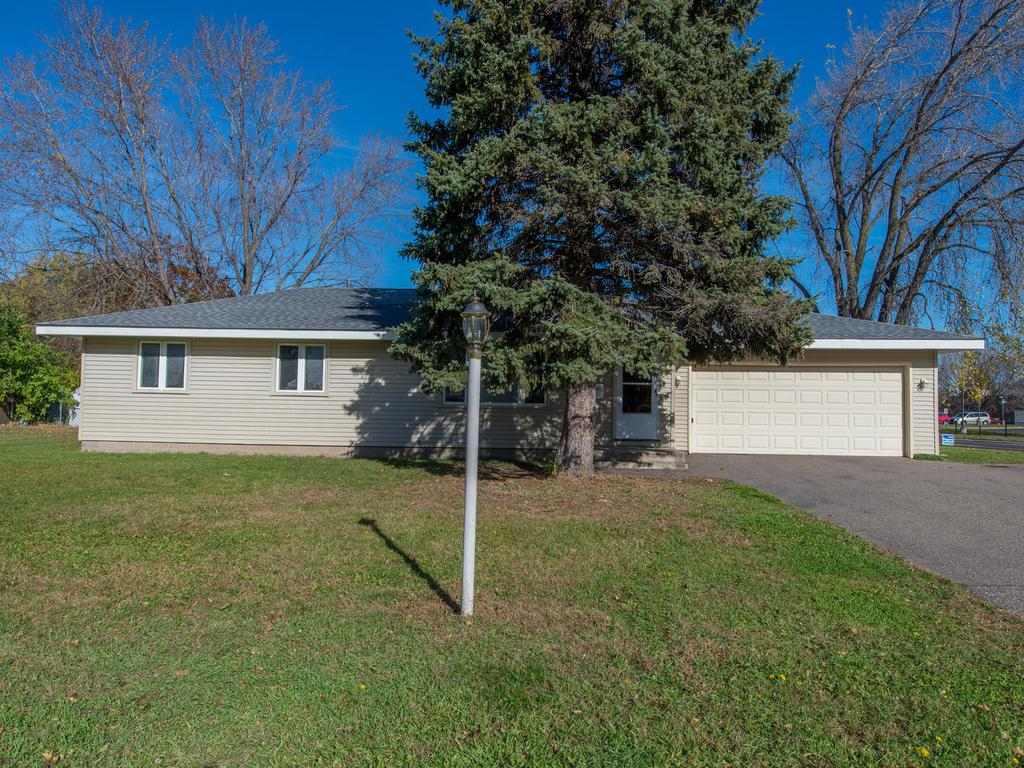 Great 3 Bedroom Home with 2 car Garage is located on corner lot.