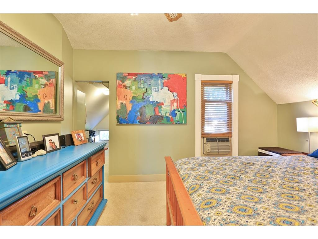 This is the master bedroom. Note the walk-in closet at the rear of the picture.