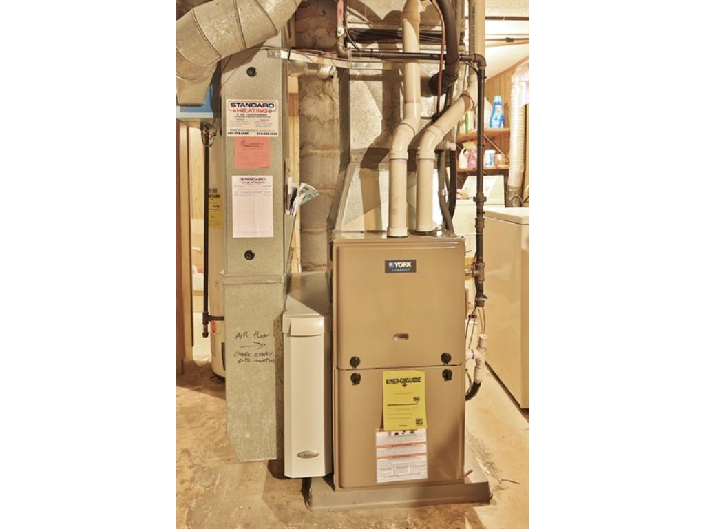 To help you save on your utility bills, the forced air furnace was just replaced in 2015. There's also central air conditioning!