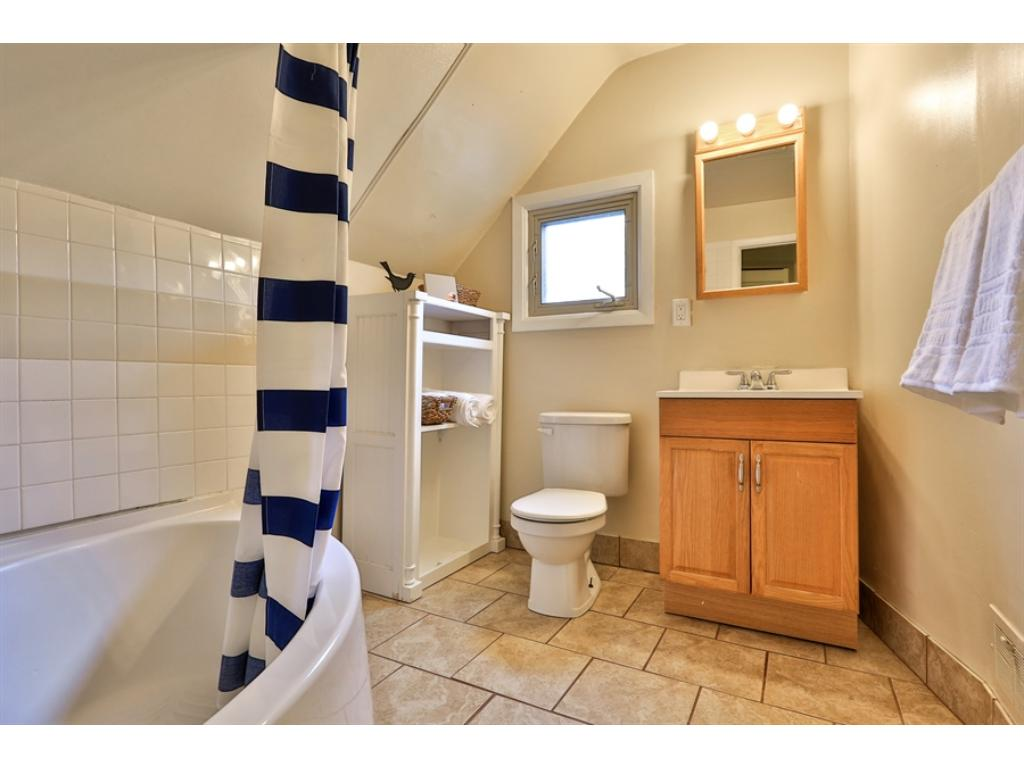 The bathroom is clean and private.