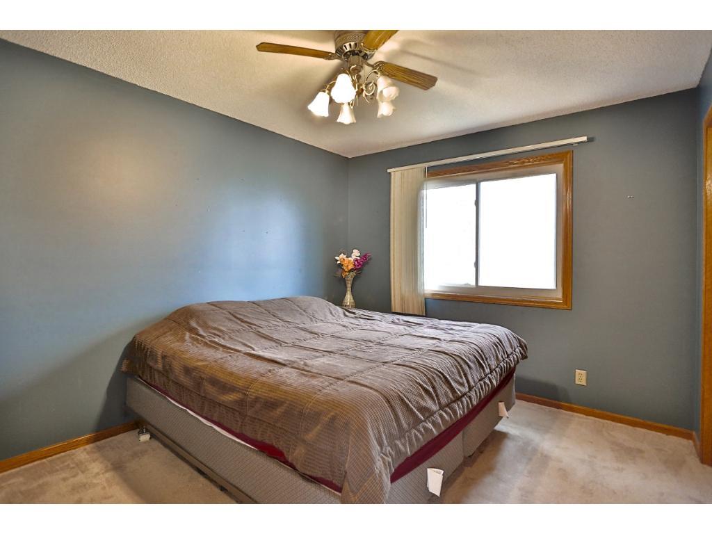 Main floor bedroom with generous closets