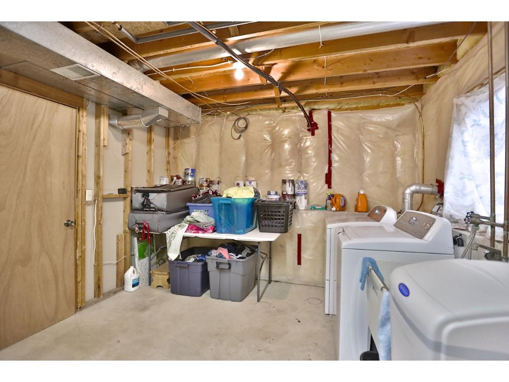 Laundry area has rough in for a second bathroom.