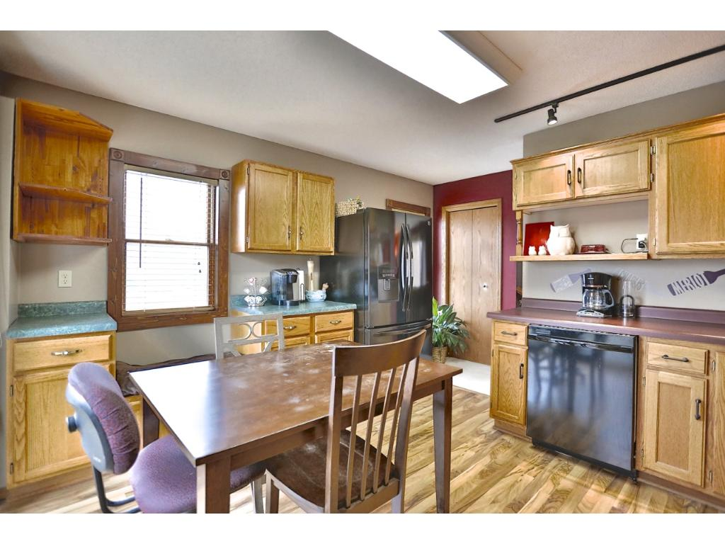 The kitchen is bright and airy.