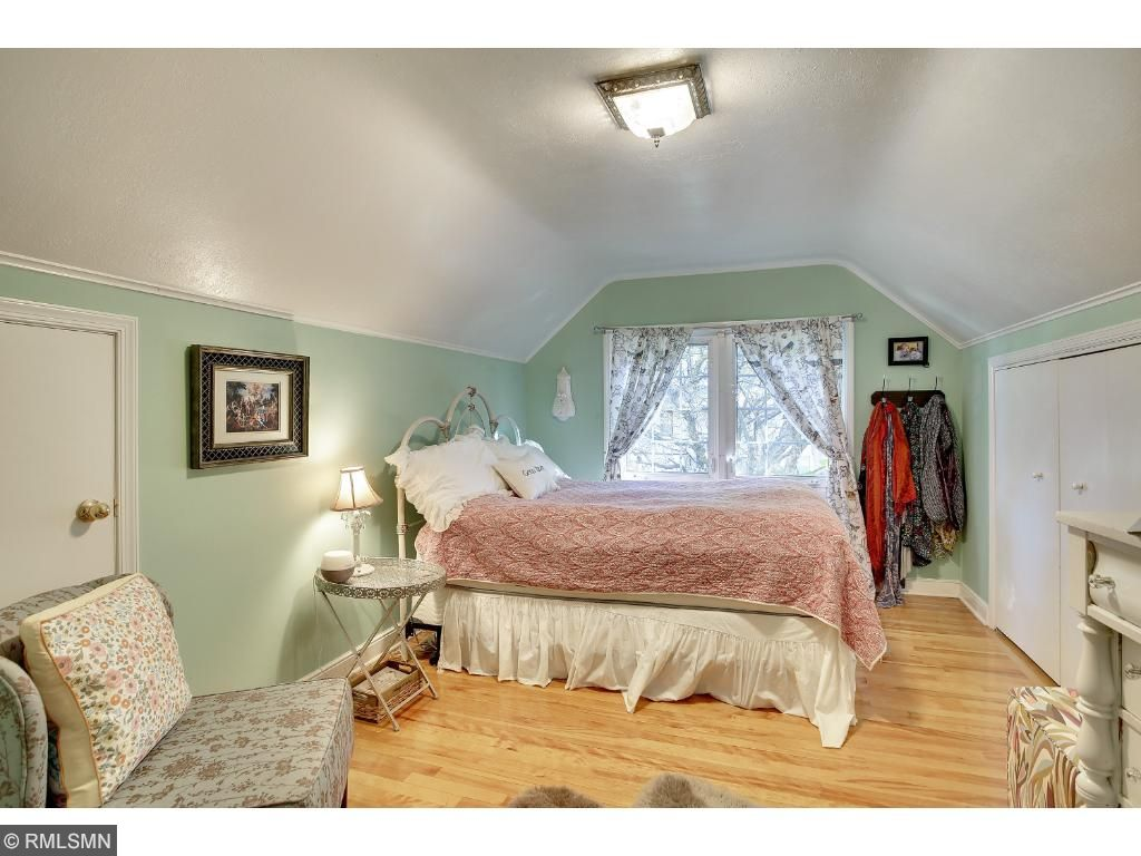 Upper bedroom is the Master Bedroom.  Ample storage on walls with attic.  Storage galore!!