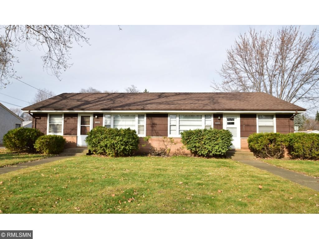 Welcome to 6000 & 6002 36th Avenue North! Great Side by Side Crystal Duplex First Time to Market!