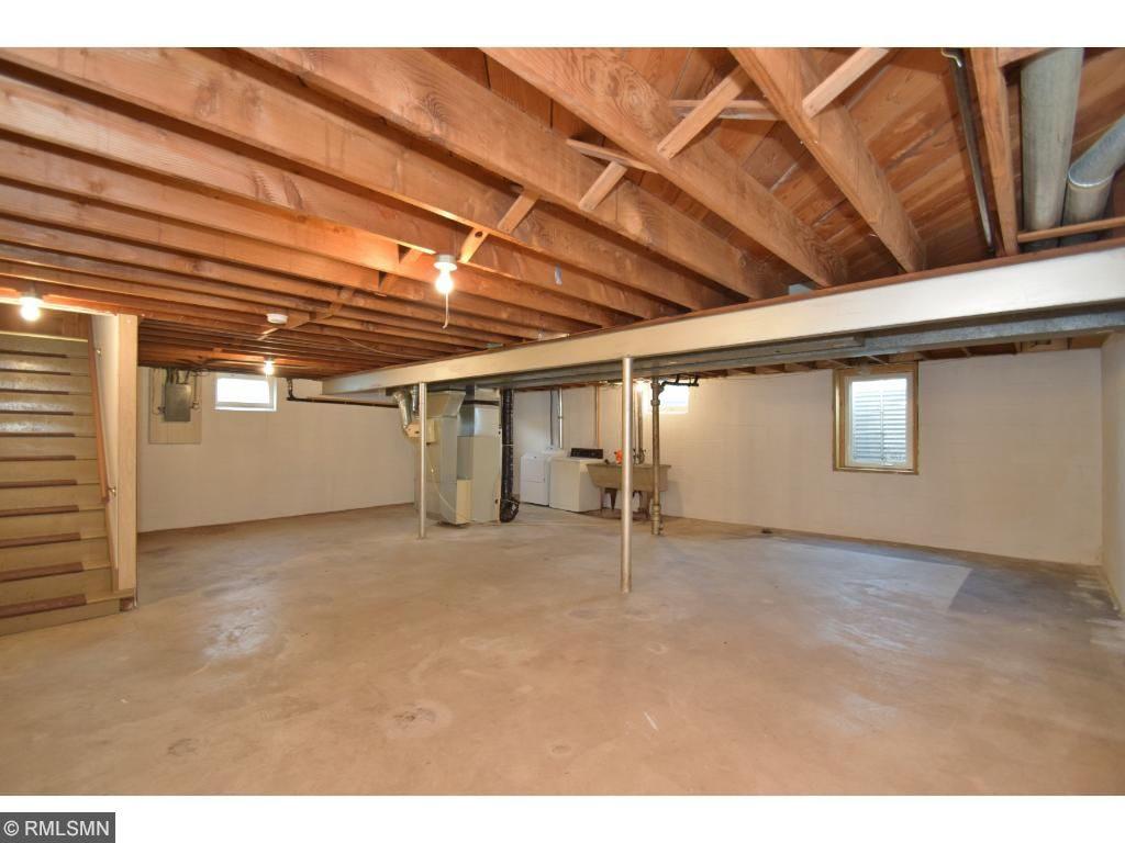 WOW!  HUGE Open Unfinished Basement Ready to Finish & Add Equity or Build Rental Cashflow!
