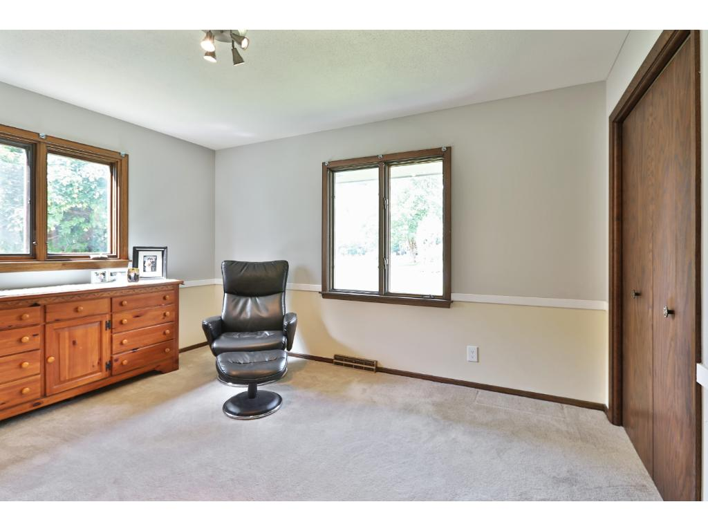 Lovely 2nd bedroom on main can double as exercise room, den, TV room, etc.- great options!