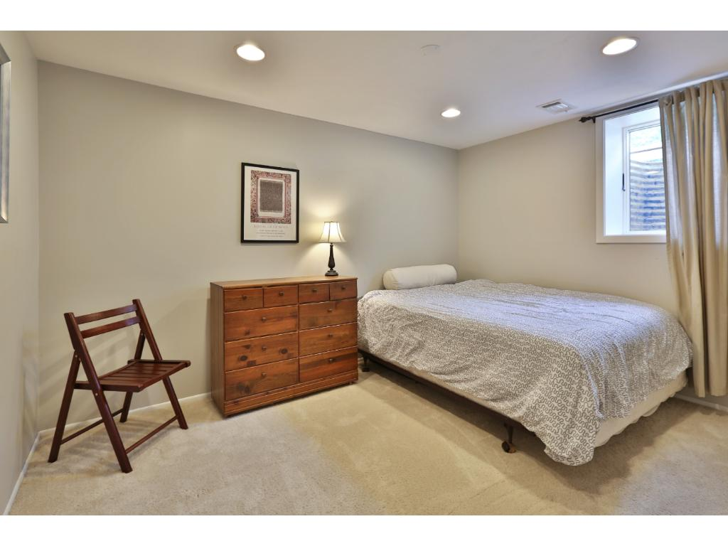 Lower level bedroom with egress great for company!