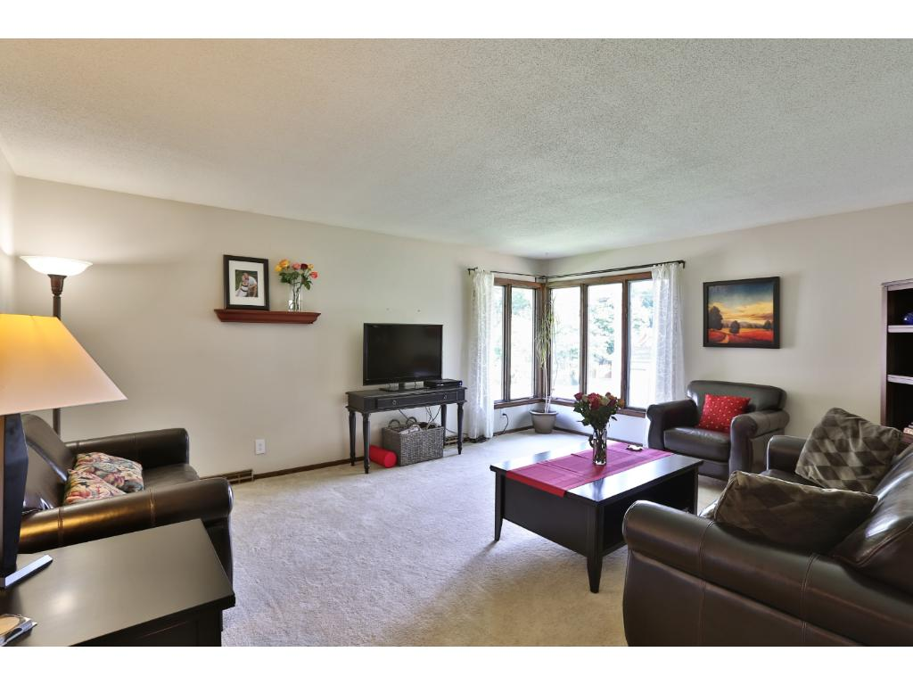 Main level living room has great space!