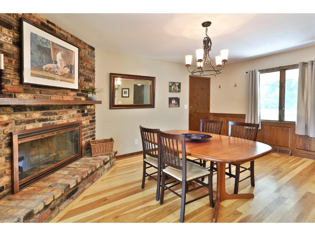 Great feel, tremendous gathering space, and a very nice kitchen with beautiful floors.
