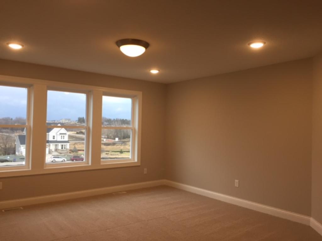 A large bonus room on the second level.