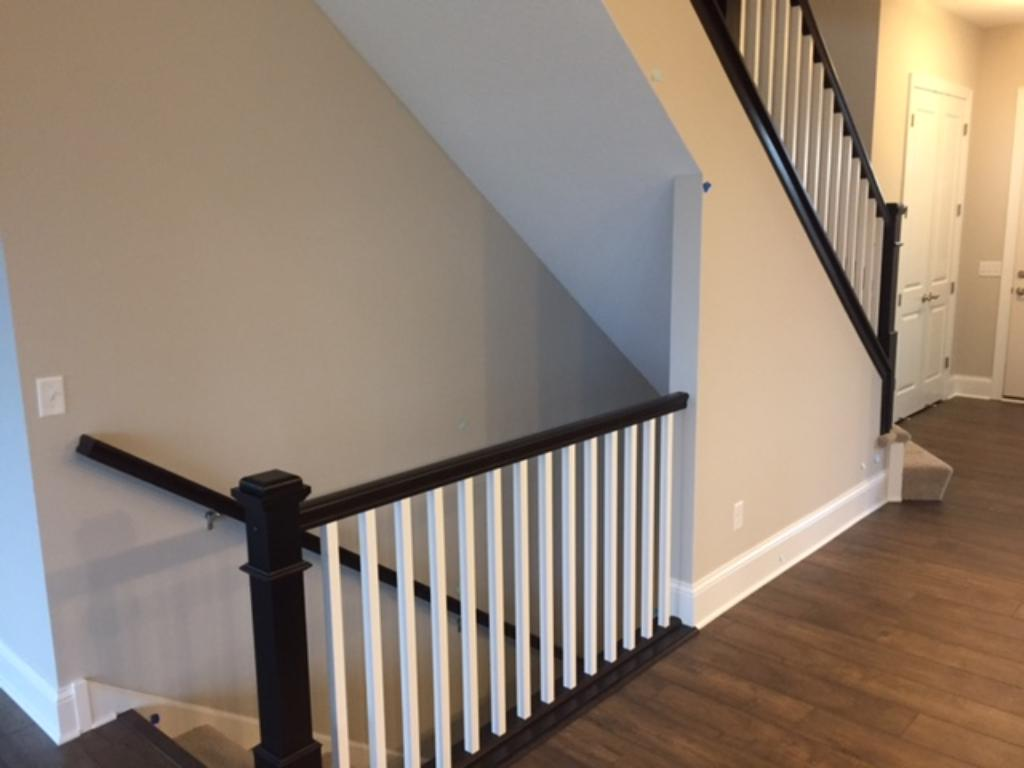 open railing to the lower level