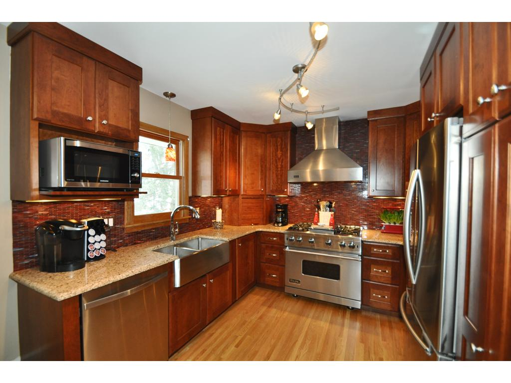 Stunning Kitchen  High End Stainless Appliances, Custom Cherry Cabinetry,  Granite Counters, Task