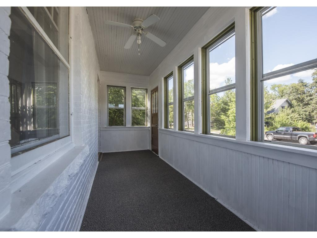Very nice solid front porch with new storm windows.   Great place for morning coffee!