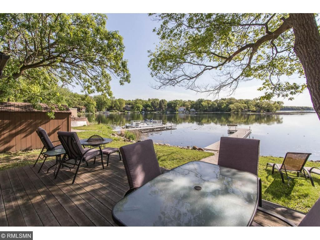 Relax & enjoy the view from the lakeside deck.