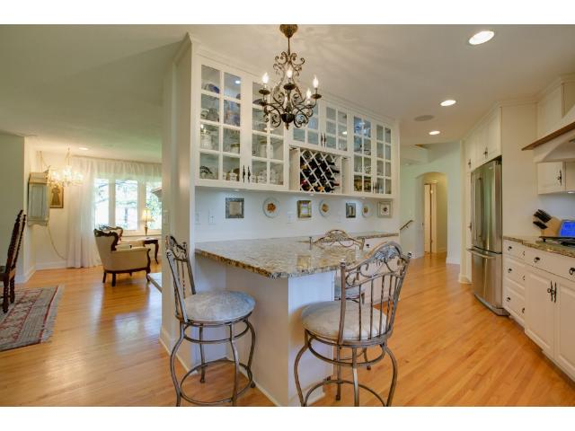 Kitchen flow and comfort to living room and terrific entertaining areas.