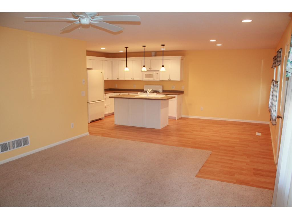 Open concept Kitchen and Living Room combo.