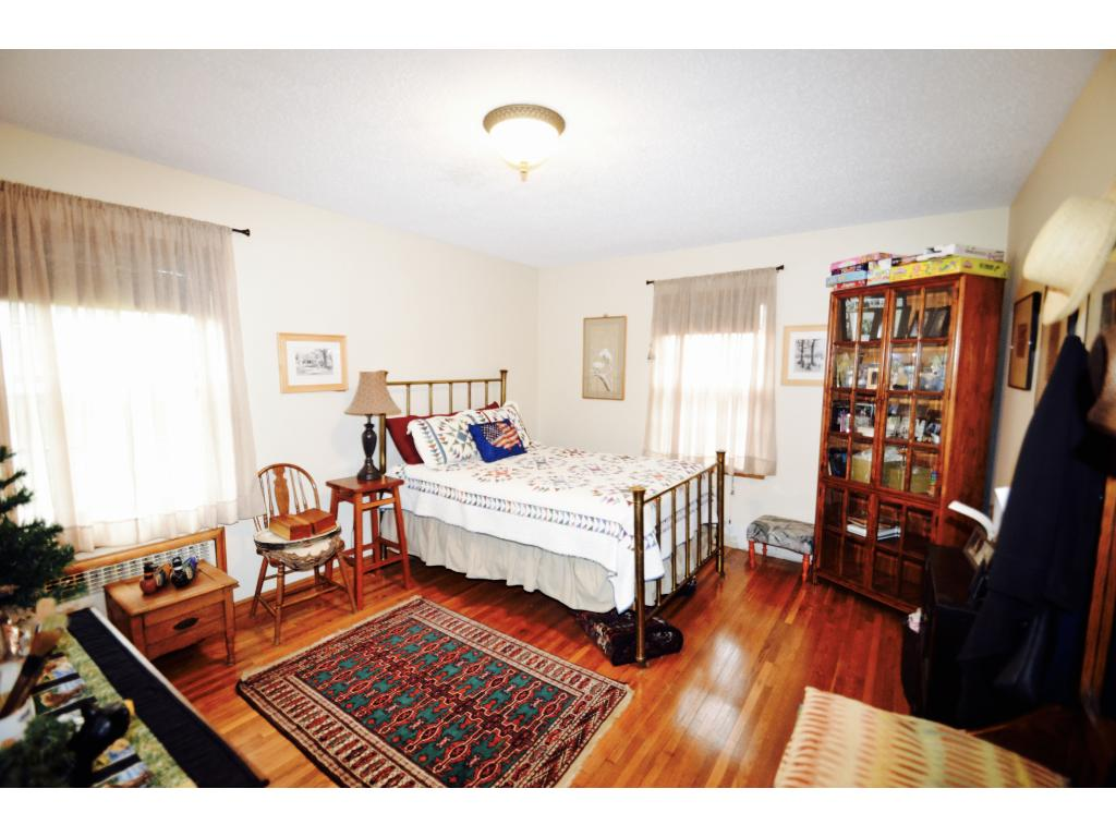 This bedroom on the main floor is large enough that you may think it is the master bedroom - but it's not!