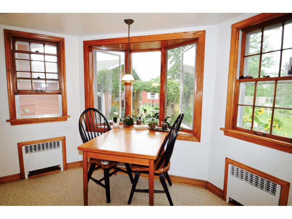 Watch the sunrise through the bay windows as you sip coffee in your breakfast nook.