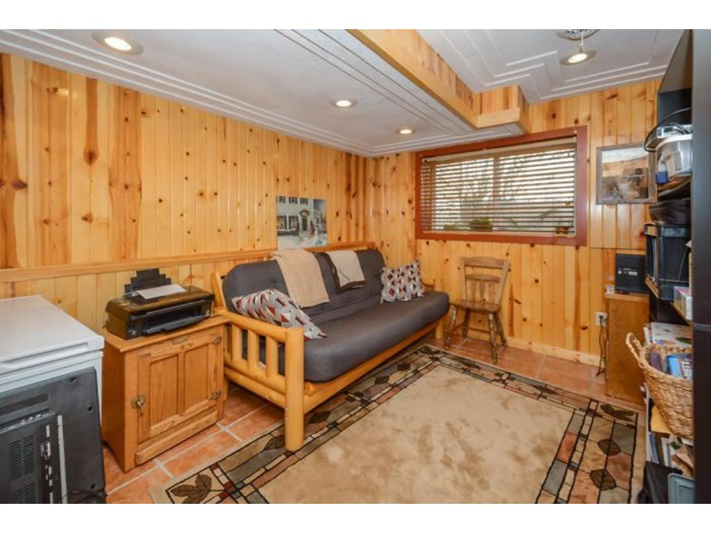 A super room on the lower level for an office or guest bedroom.