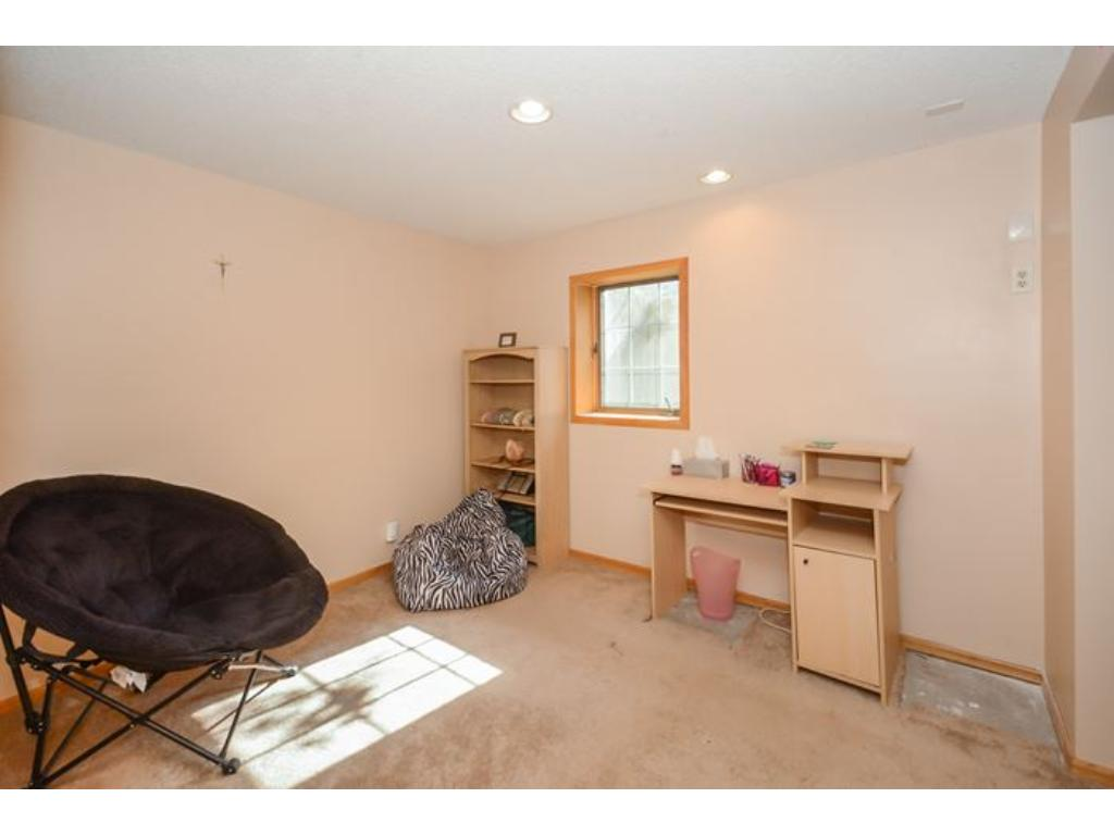 The basement level Bedroom.  A nice little living suite combined with the Rec Room.