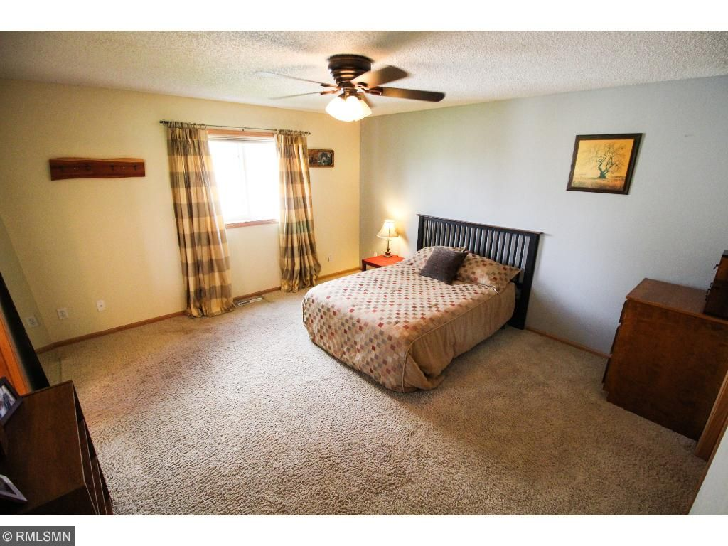 Master bedroom and 2nd bedroom on main floor. Two bedrooms on lower level.