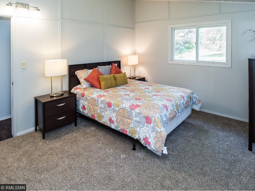 Master bedroom with nice light