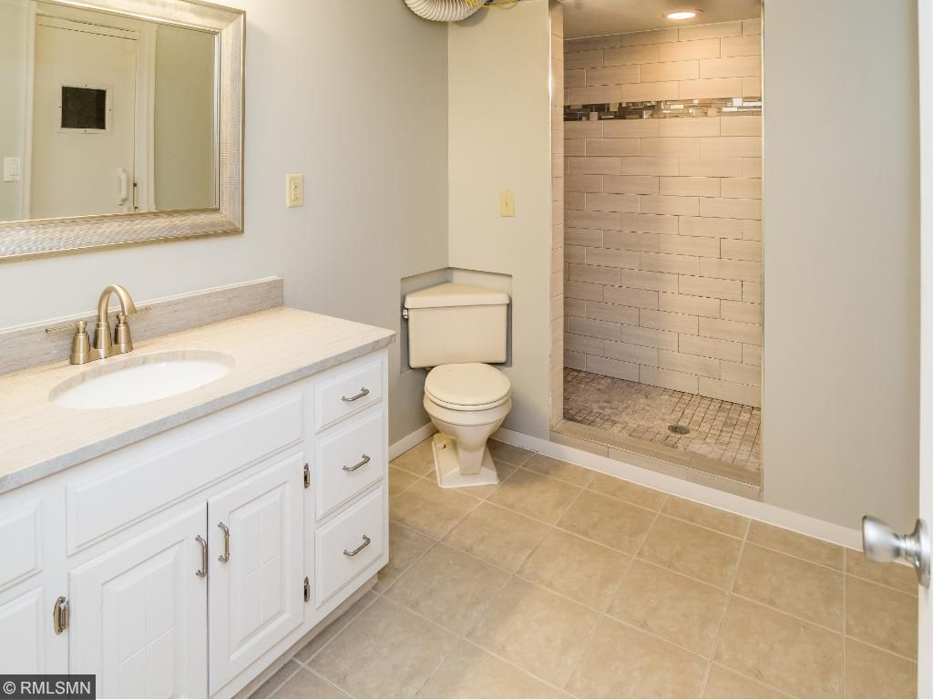 Nice new bathroom with tiled walk-in shower