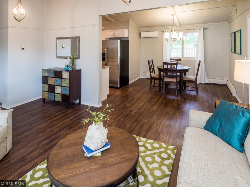 Open concept living/dining/kitchen