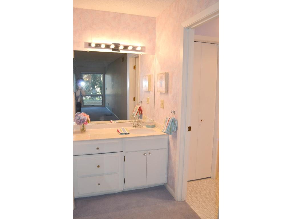 The master vanity area has lots of light!