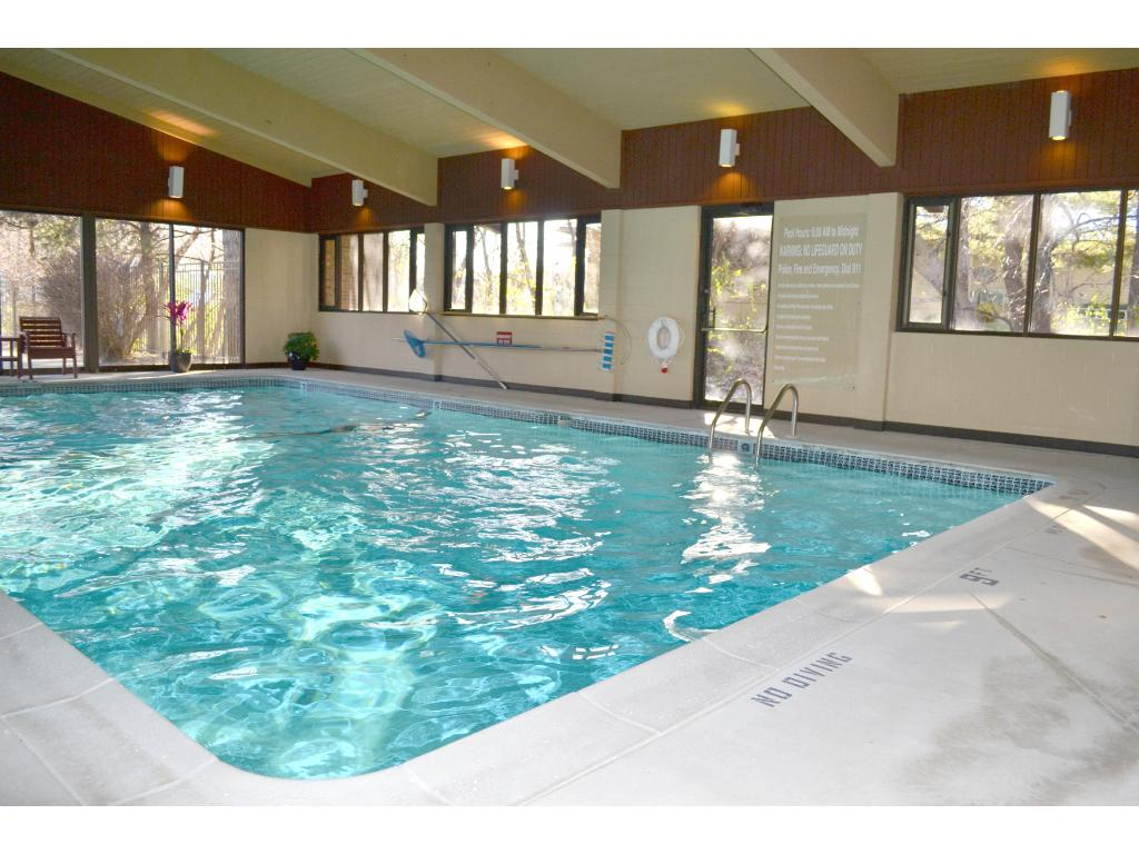 View of the indoor pool - there is also a whirlpool tub & an outdoor pool