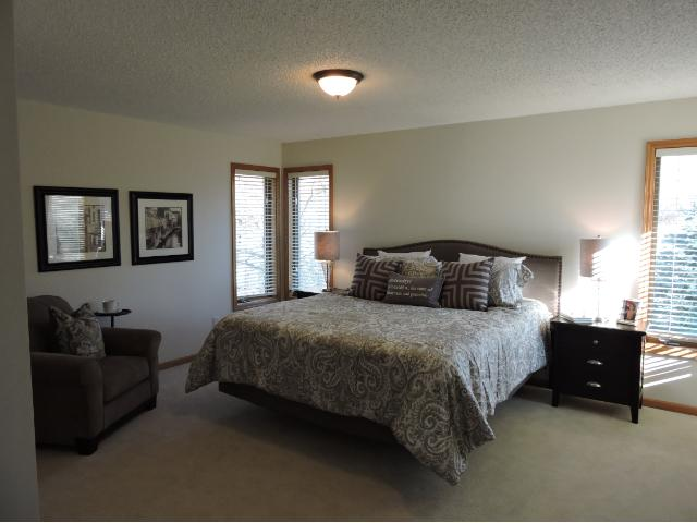 Master suite with walk in closet. Private master bath with Jacuzzi.