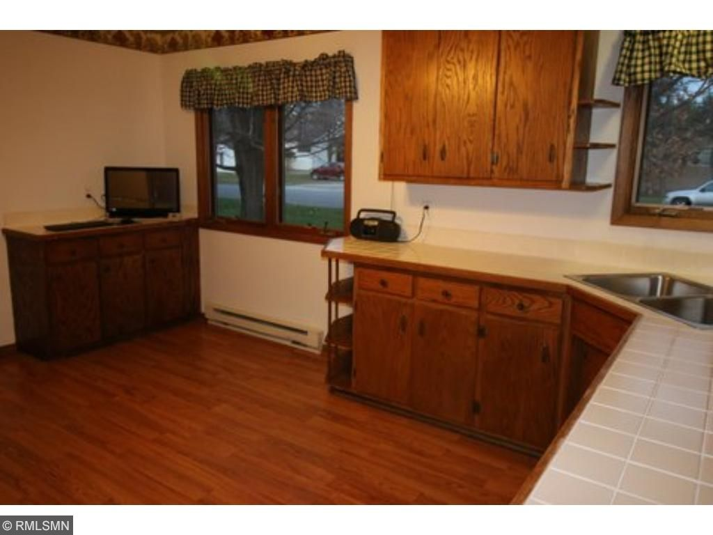Lots of counter space and cabinets in the kitchen.