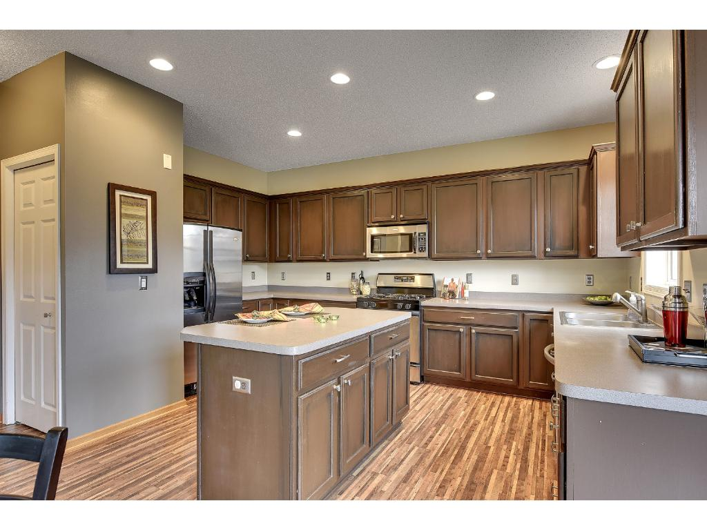 Oversized open Kitchen.