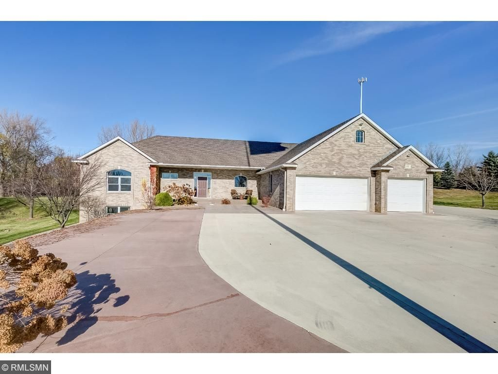 Front of Home, Huge Driveway and 3 Car Heated Garage!