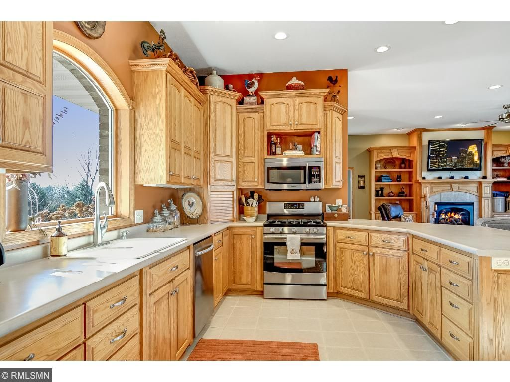 Kitchen with large window above sink!