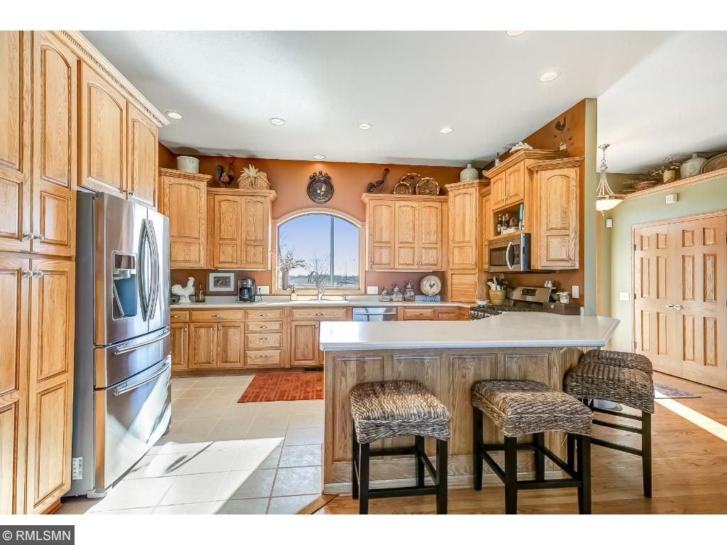Kitchen with New Stainless appliances.