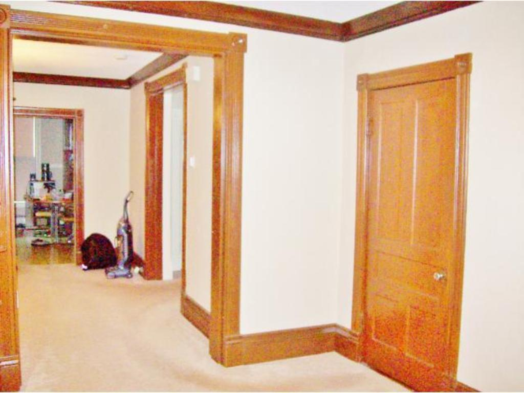 Main level entry to the living room and dining room areas.