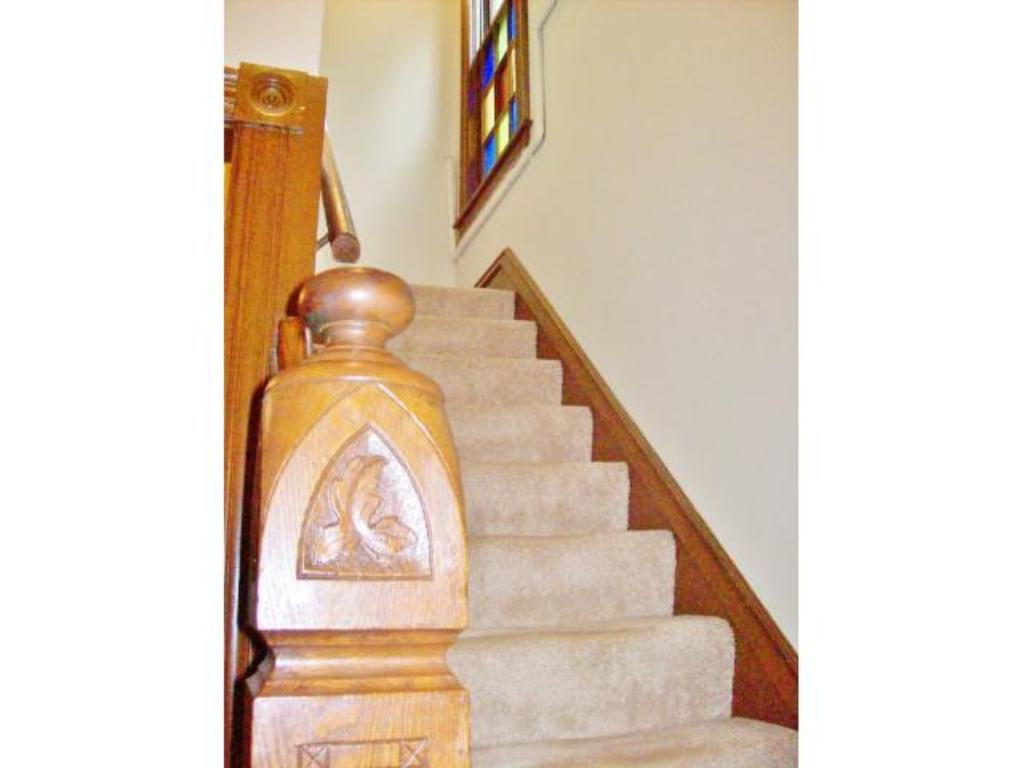Front entry stairwell to the second level.