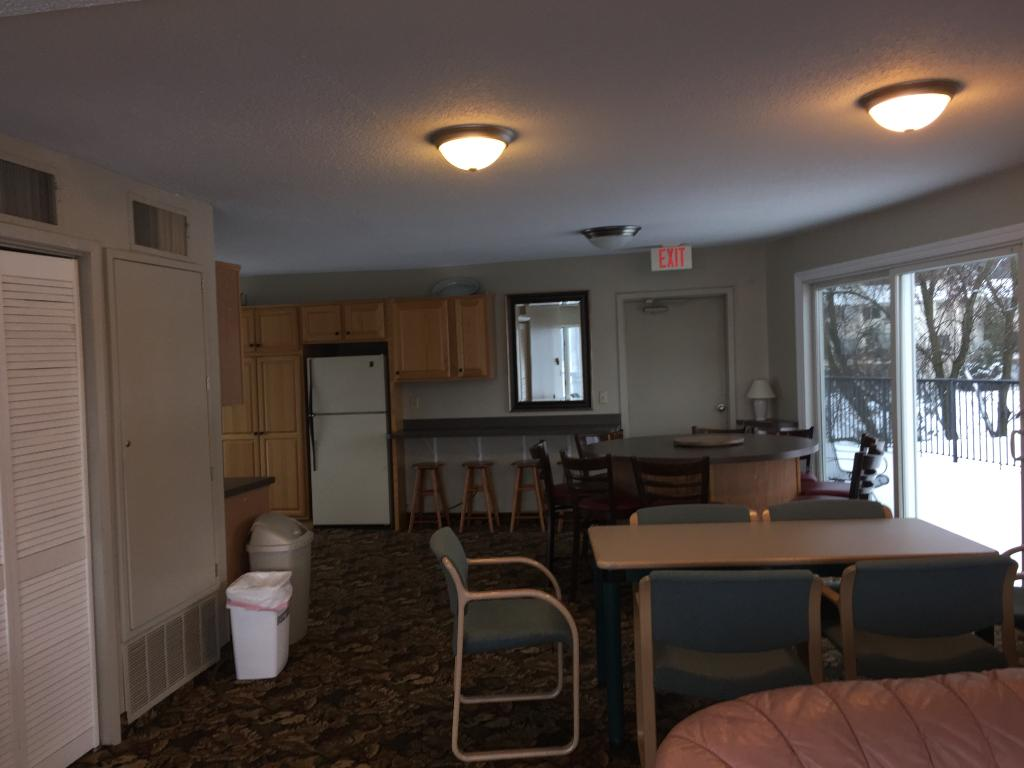 Upper level party room.